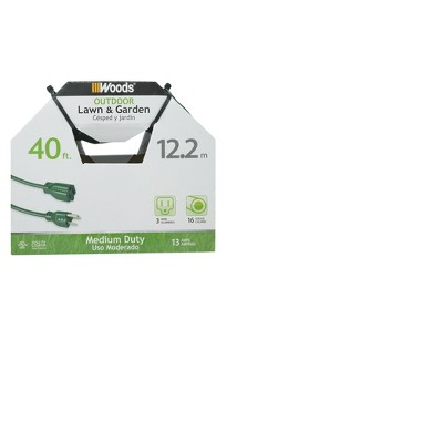 Woods 40' Extension Cord Green