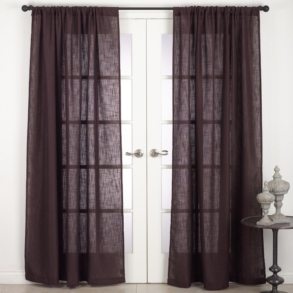 Curtain Panels Saro Lifestyle Warm Chocolate Solid