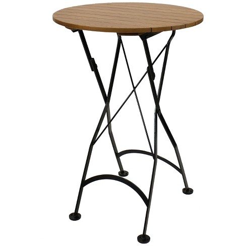 Tall Bar Height Table, Small Round Folding Cafe Table