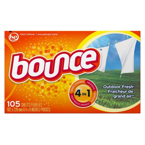 Bounce Outdoor Fresh Fabric Softener Dryer Sheets 105 ct - image 1 of 3