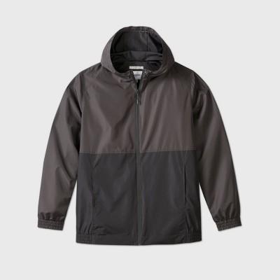 Men's Big & Tall Fullzip Lightweight Hooded Rain Coat - Goodfellow & Co™