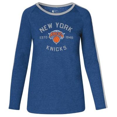 NBA New York Knicks Women's Team Shoulder Stripe Sweatshirt