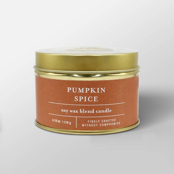 4.1oz Tin Jar Candle Pumpkin Spice - Threshold™ - image 1 of 3