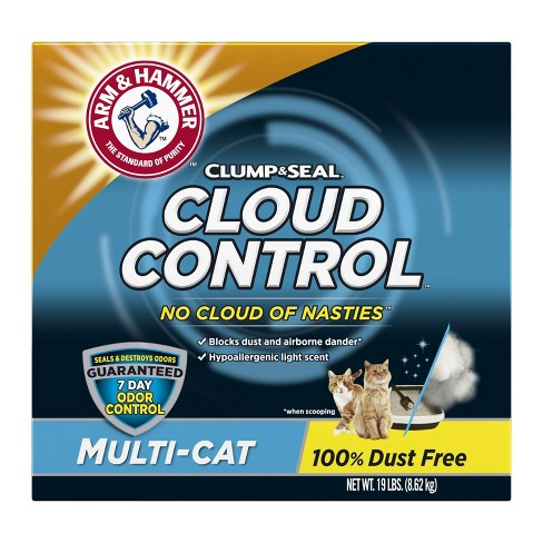 Arm & Hammer, Breathe Easy, Cloud Control Clumping Cat Litter - 19lbs - image 1 of 3