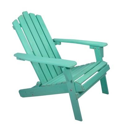 "Northlight 36"" Green Classic Folding Wooden Adirondack Chair"