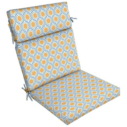 Honeycomb Outdoor Dining Chair Cushion Yellow Arden Selections Target