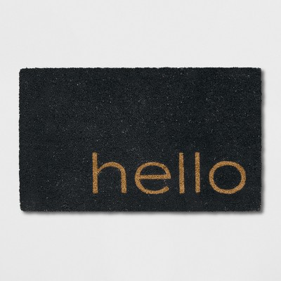 "1'6""X2'6""/18""X30"" Hello Doormat Black - Project 62™"
