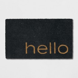 "1'6""X2'6""/18""X30"" Quote Doormat Black - Project 62™"