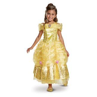Girls' Disney Princess Belle Deluxe Halloween Costume S