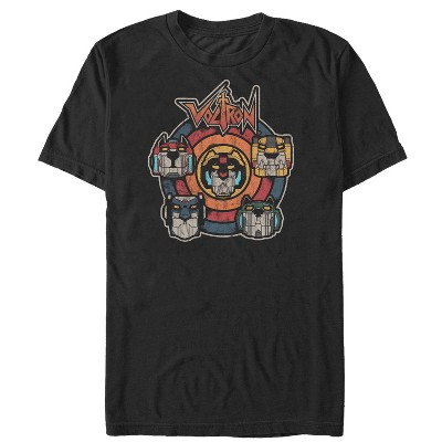 Men's Voltron: Defender of the Universe Retro Lion Target T-Shirt