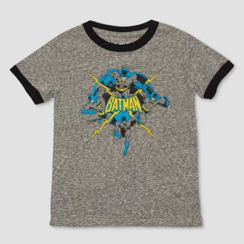 5030a4b8 Toddler Boys' DC Comics Batman Short Sleeve T-Shirt - Dark Heather ...