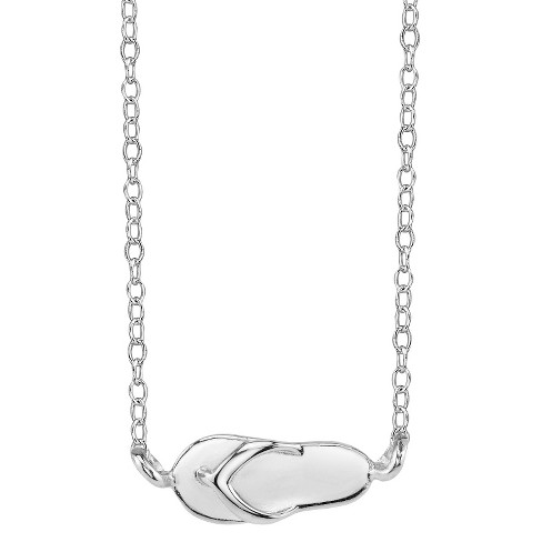 Footnotes Sterling Silver Sandal Station Necklace - Silver - image 1 of 1