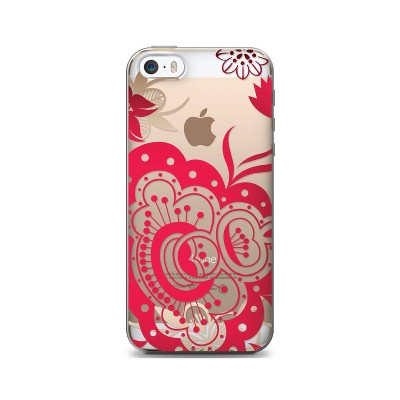 iPhone 6/6S Case - OTM Floral Prints Clear - Paisley Red