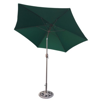 9u0027 Round Crank Patio Umbrella   Green