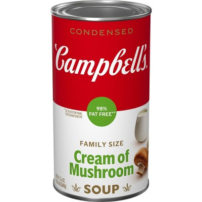 Campbell's Condensed 98% Fat Free Family Size Cream Of Mushroom Soup - 22.6oz