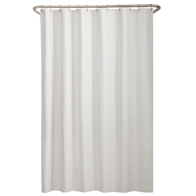 Water Repellant Fabric Shower Liner White - Maytex