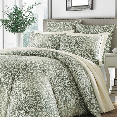 Abingdon Comforter set Green - Stone Cottage