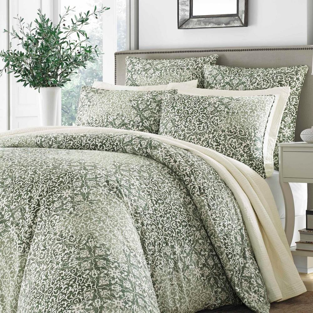 Green Abingdon Comforter Set (King) - Stone Cottage