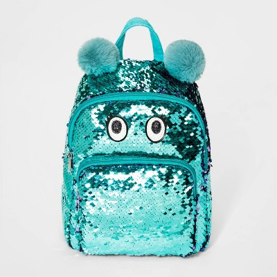 Girls' Flip Sequin Monster Mini Backpack - Cat & Jack™ Blue