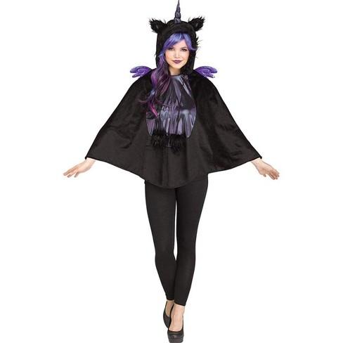 Funworld Dark Unicorn Hooded Adult Costume Poncho - image 1 of 1