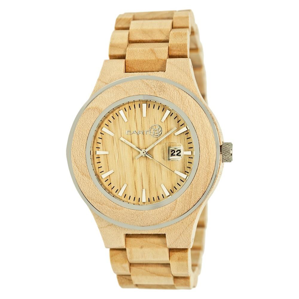 Earth Wood Men's Eco - Friendly Sustainable Wood Bracelet Watch - Khaki