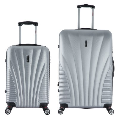 InUSA Chicago 2pc Hardside Spinner Luggage Set