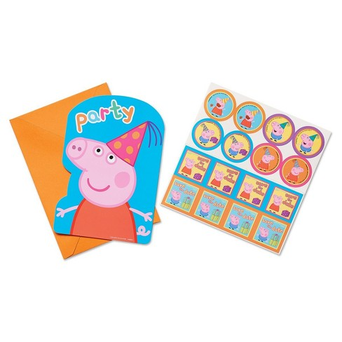 8ct Peppa Pig Birthday Invitations Target