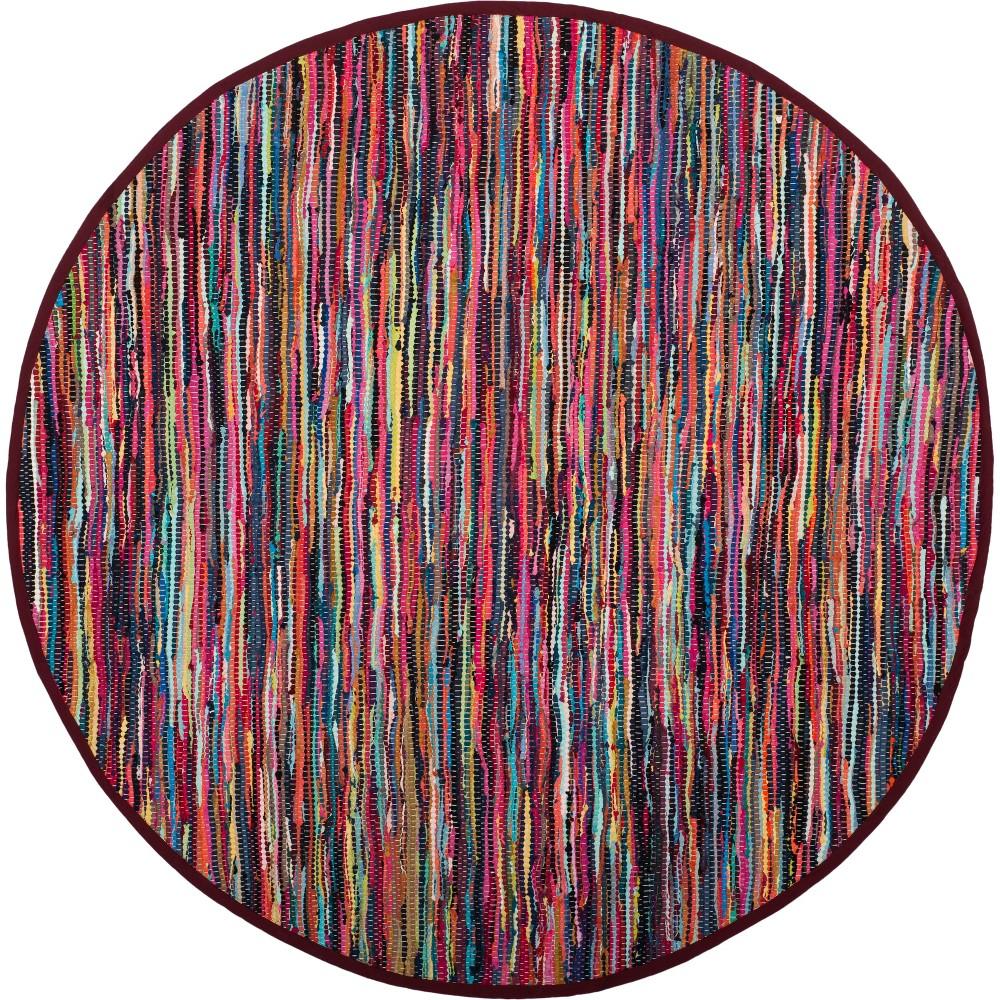 8' Spacedye Design Woven Round Area Rug Light Gray - Safavieh