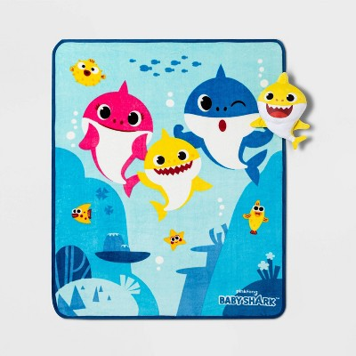 Baby Shark Musical Throw and Pillow
