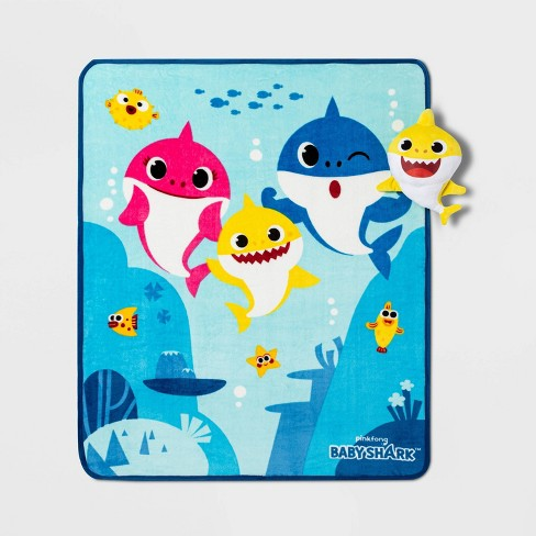 Baby Shark Musical Throw and Pillow - image 1 of 4