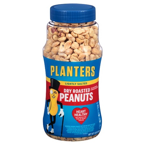 Planters Heart Healthy Lightly Salted Dry Roasted Peanuts - 16oz - image 1 of 3