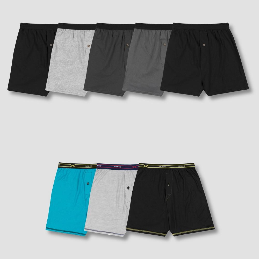 Hanes Men's P5 Knit Boxer Shorts +3 Bonus Xtemp Boxer Shorts - Colors May Vary S, Multicolored