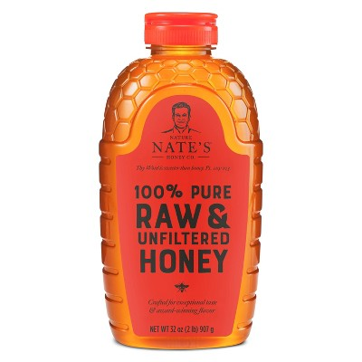 Nature Nate's 100% Pure Raw Unfiltered Honey – 32oz