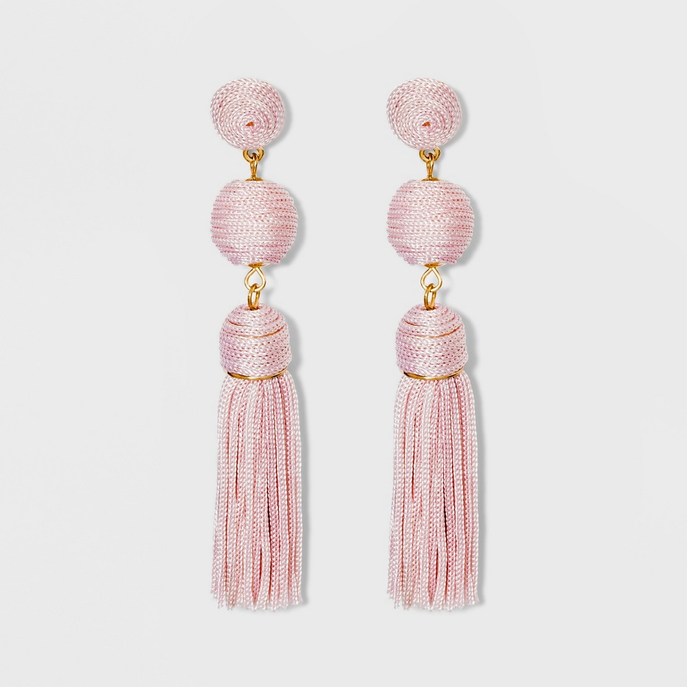 Sugarfix by BaubleBar Monochrome Tassel Drop Earrings - Lilac, Girl's