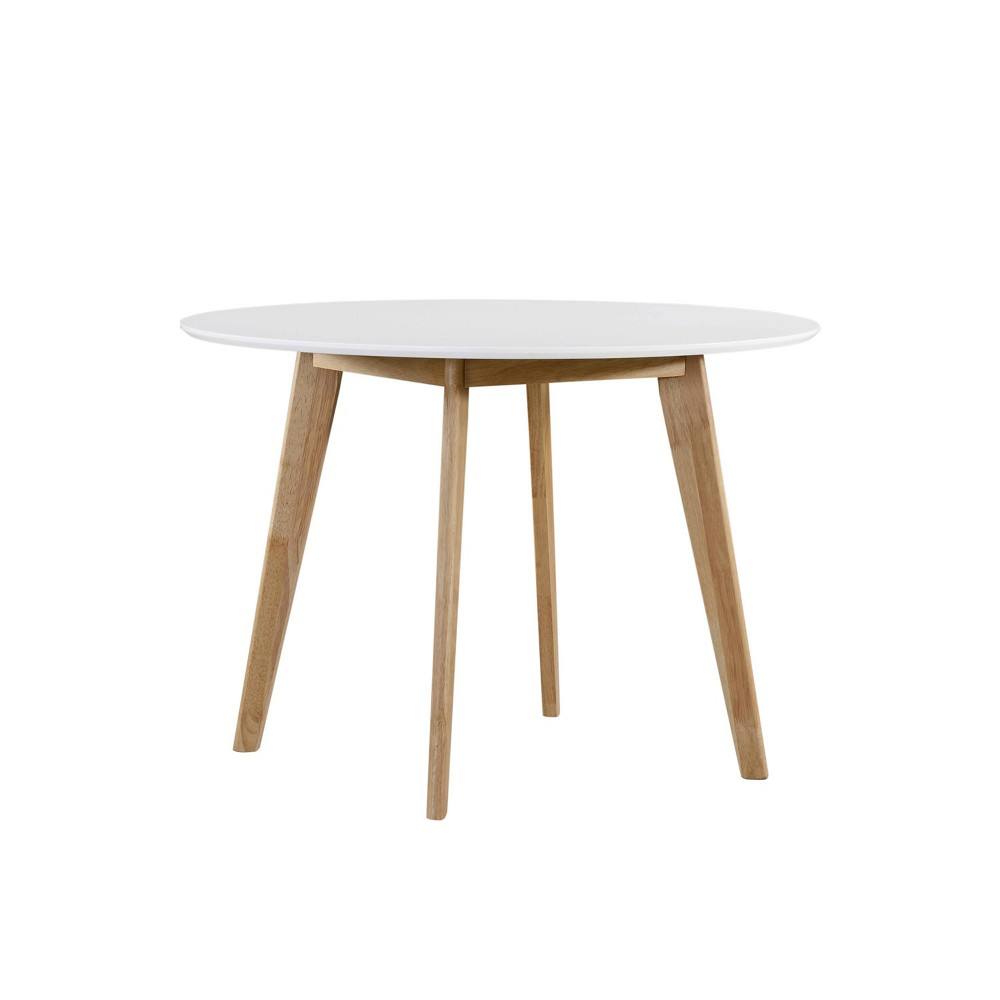 """Image of """"42"""""""" Eckley Round Dining Table White/Natural Finish - Handy Living"""""""