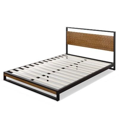 Suzanne Platform Bed with Headboard Black - Zinus