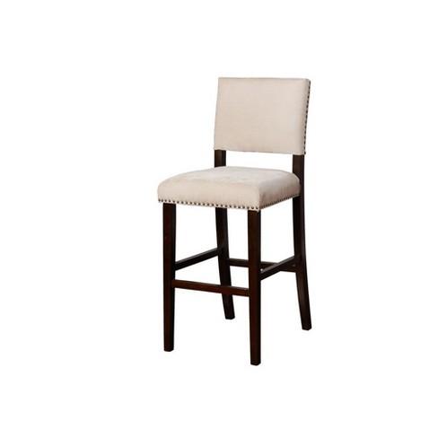 Awe Inspiring Corey Natural Washed Velvet Counter Stool Natural Linon Machost Co Dining Chair Design Ideas Machostcouk