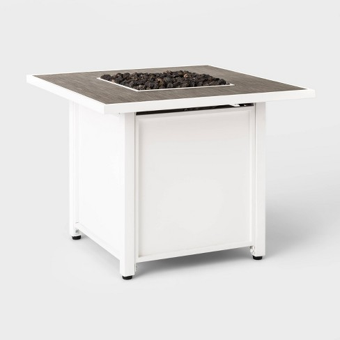 "Berkley 30"" Square Outdoor Patio Propane Fire Table - White - Threshold™ - image 1 of 4"