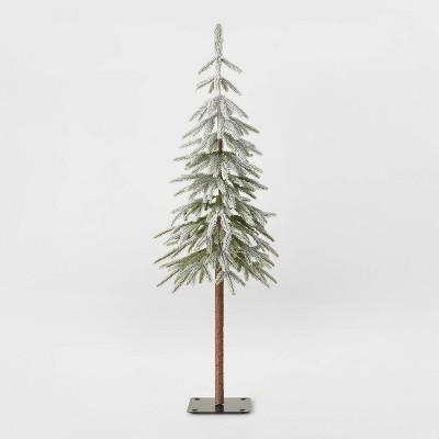 4ft Unlit Downswept Flocked Alpine Balsam Artificial Christmas Tree - Wondershop™