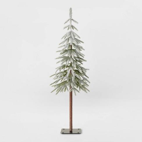 4ft Unlit Downswept Flocked Alpine Balsam Artificial Christmas Tree - Wondershop™ - image 1 of 2