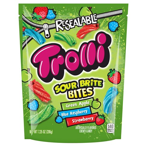 Trolli Sour Brite Bites Assorted Flavors Licorice Candy - 7.25oz - image 1 of 1