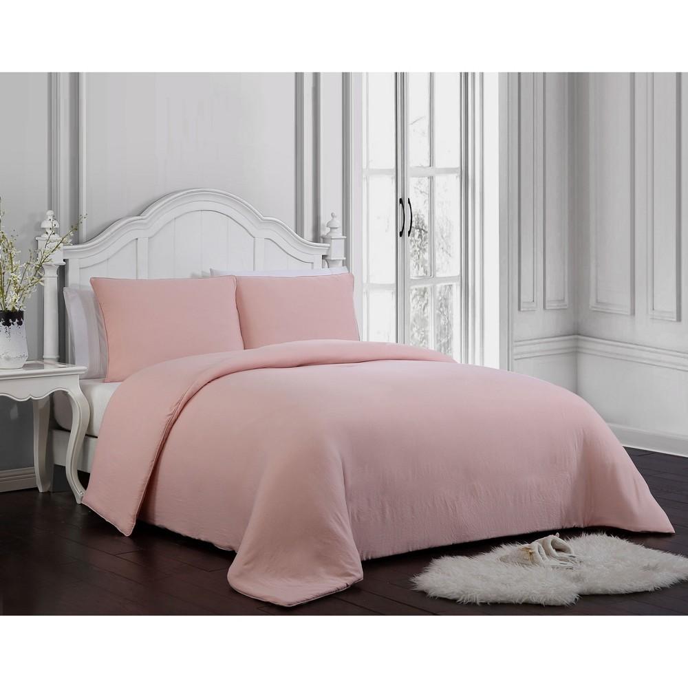 Image of 3pc King Gweneth Super Soft Comforter Set Blush - Geneva Home Fashion