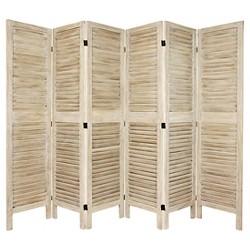 5 1/2 ft. Tall Classic Venetian Room Divider - Burnt White (3 Panel)