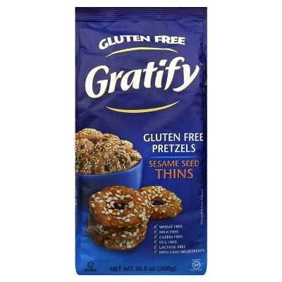Gratify Sesame Pretzels - 10.5oz (Pack of 6)