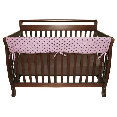 Trend Lab 51  Maya Dot Front Rail Cover for Convertible Cribs- Pink