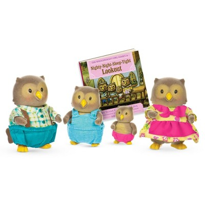 Li'l Woodzeez Miniature Animal Figurine Set - Whooswhoo Owl Family