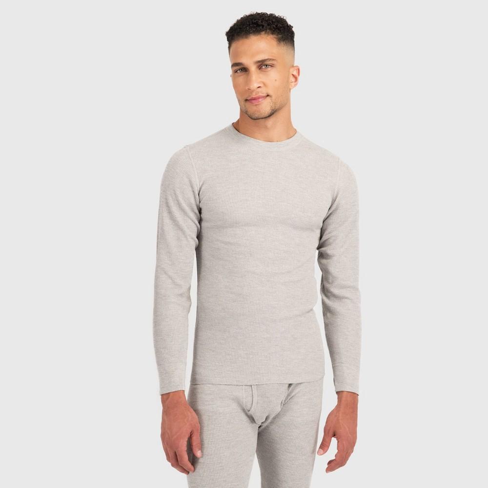 Image of Hanes Premium Men's Long Sleeve X-Temp Fresh IQ Thermal T-Shirt - Gray XL