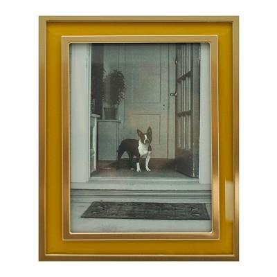5 x7  Aspen Metal Frame with Bevel Glass Gold - Threshold™