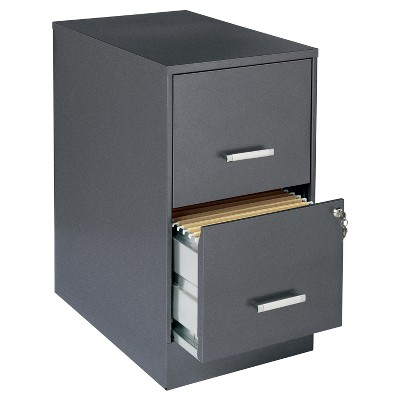 Lorell® Vertical Filing Cabinet, 22 , File/File, Steel - Dark Gray