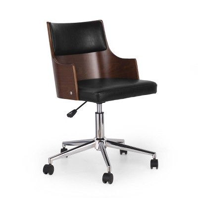 Rhine Mid-Century Modern Upholstered Swivel Office Chair - Christopher Knight Home